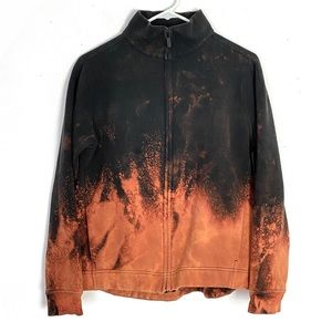 Lululemon Wind Down Jacket Black Ombre Bleached 8
